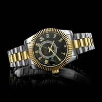 grandes relojes de acero inoxidable al por mayor-2019 reloj grande Luxury New Gent's GMT II cuarzo Relojes automáticos Acero inoxidable Buceo Blanco Negro Plata Maestro Reloj para hombre