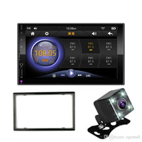Wholesale mp3 mp4 player for car resale online - 2 DIN car radio Mirror Link for Android phones capacitive touch screen quot MP5 Bluetooth USB TF FM Camera Multimedia Player din