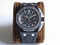 pin temporizador al por mayor-El nuevo reloj de lujo de 44 mm está equipado con 7750 cadenas automáticas con movimiento 316L reloj de acero de precisión para hombres, correa de caucho negro