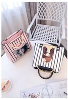 Wholesale white christmas sprays resale online - 2017 New South Korean Version PU Bag Striped Spray Handbag Fashion and Casual Styling of The Women s Shoulder Bag