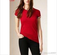 tasarımcılar kadın giyim toptan satış-Bayan Tasarımcı Gömlek Yaz Marka T Gömlek Kadınlar Casual Stil Tops T-shirt Pamuk Kısa Kollu Tişört Moda Kadınlar Tees Tops giysi