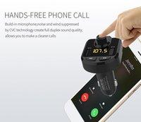 kit carregador móvel venda por atacado-Alta qualidade BT36 Dual USB Auto Bluetooth Kit MP3 Player Carro Kit Mãos Livres Bluetooth Carro Multifuncional Carregador de Telefone Móvel DHL