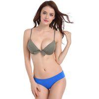 neue heiße frauen bikini großhandel-2019 heiße neue Frauen-Bikini-Badeanzug-reizvolle Art- und Weisebikini-Jane-Schönheits-Kasten-Badeanzug-Badebekleidung Mujer Playaro Brakinis Biqiuni stellt zwei Stücke ein