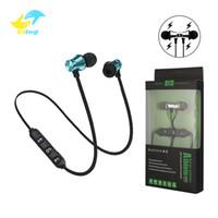 Wholesale wireless headphones mic blue online - XT11 wireless Bluetooth Headphones Magnetic Wireless Running Sport Earphones Headset BT with Mic MP3 Earbud For iPhone LG Smartphones