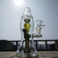 Wholesale Solid Lava Lamp Bongs mm Thick Heady Glass Unique Bongs Showerhead Perc Mini Oil Dab Rigs Smoking Water Pipes Bubblers with Bowl XL LX3
