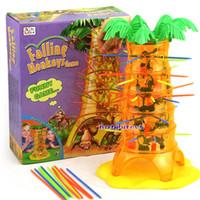 mesa baja al por mayor-Juego de mesa para bebés volcado de mono trepador de juguete juguete interactivo educativo mono trepador de árbol