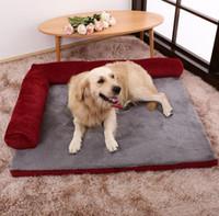almohadas de gato grande al por mayor-Gran cama del perro cojín del sofá del animal doméstico del gato para los perros grandes lavable Nido del gato de peluche del perrito de la perrera Mat Plaza casa de la almohadilla para mascotas
