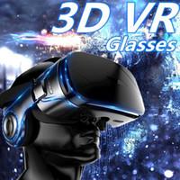 ingrosso cuffie virtuali-VR Glasses Virtual Reality 3D Panoramica 360g Cinema Stereo Guardare film, giocare. Con cuffie manuali