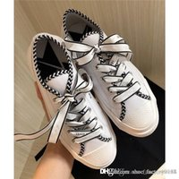 Wholesale flat shoes little heel for sale - Group buy The letter printing Lace up little white shoes Latest Women Flat bottom leisure sports shoes Small chamois leather sneakers size