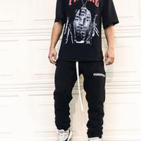 moda mulheres baggy calças venda por atacado-19SS Medo de deus FOG BAGGY NYLON PANTDrawstring Calças Sweatpants Street Casual Solto Homens Mulheres Calças Calças Esporte Moda HFHLKZ005