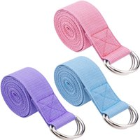 ingrosso bande di stirata del piedino-72 pollici regolabile Pilates Stretch Out Strap Resistance Band Pull Rope Esercizio Cross Fit Peso Fitness Band Yoga Leg Training