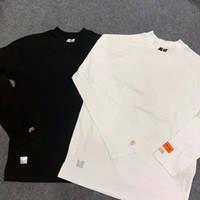 ingrosso maniche collane cinesi per le donne-Heron Preston cinese stile lettera T Shirt 17FW uomini donne 1: 1 di alta qualità Hip Hop collo alto moda maniche lunghe Tee
