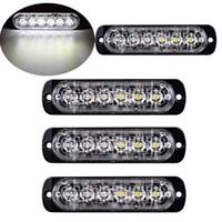 Wholesale led beacons bars resale online - 4pcs LED Car Truck Marker Emergency Strobe Grille Flashing Warning Light Bar V V W Driving DayLight Beacon Traffic Lam