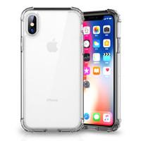 iphone açık tampon toptan satış-1.5 MM zırh temizle darbeye dayanıklı telefon kılıfı için iPhone XR XS Max Tampon Şeffaf yumuşak TPU Kapak iphone 7 8 X Artı