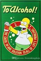 ingrosso pitture di alcol-ad alCOHOl il e della libertà 20 * 30 cm biondo motorbicycle Tin Sign Coffee Shop Bar Ristorante decorazione di arte della parete Bar metallo dipinti