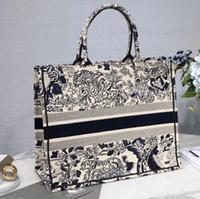 ingrosso sacchetto di viaggio della tela di canapa dell'annata-Grande borsa vintage del sacchetto della spesa del ricamo 41CM per la borsa di tela di viaggio