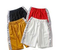 ingrosso marchi di basket-19ss Europa e Stati Uniti marea marchio tripartito nome congiunto TEANS pantaloncini sportivi pantaloni da basket in bianco e nero