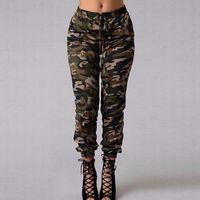 camo pantolon boyutu 28 toptan satış-Kamuflaj Kargo Pantolon Kadın Cep Gevşek Uzun Kargo Pantolon Bayan Camo Pantolon Artı Boyutu Kadın Kamuflaj Pantalon Femme
