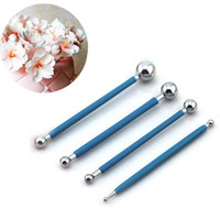 Wholesale cake decorating kit fondant resale online - Sugarcarft Fondant Cake Decorating Kit Stainless Steel Molding Ball Sticks Kitchen Accessories Polymer Clay Tools