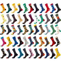 karikatür hayvan çorap toptan satış-Erkek Çorap 2019 Yeni Moda Toptan Kış Wearproof Uzun Öğrenci Hip Hop Sonbahar Renk Gelgit Hayvan Meyve Kadın Marka Tam pamuk