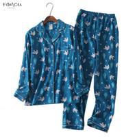 Wholesale korea lace collar for sale - Group buy Cute Korea Cartoon Cotton Pyjamas Women Pajamas Autumn Brushed Sets Cotton Winter Warm Women Sleepwear Pijamas Mujer