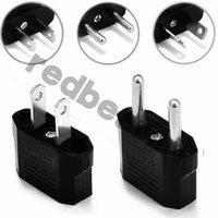 adaptadores elétricos universais venda por atacado-EUA EUA Para A UE AU Plug EUA Adaptador de Viagem Carregador Adaptador Conversor Universal AC Power Plugue Tomada Elétrica