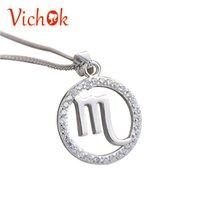 Wholesale zodiac pendants for men resale online - VICHOK Chinese Zodiac Elegant Sterling Silver Pendant Necklace For Women Men Party Fine Jewelry Kolye mujer moda