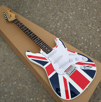 Wholesale electric guitars customs for sale - Custom Shop ST electric guitar Quality assurance The white body has a British flag on it Real photos
