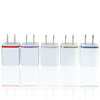 Top Quality 5V 2.1+1A Double USB AC Travel US Wall Charger Plug Dual Charger For Samsung Galaxy HTC Smart Phone Adapter