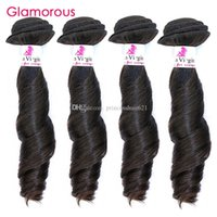 ingrosso acconciature remy indiane-Acconciatura glamour Indian Remy Hair Weave 4 Bundles Funmi Wave Brasiliana Malese Peruviana Trama Dei Capelli Umani Tessuto A Buon Mercato per i neri