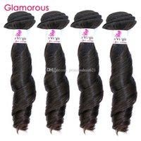 coiffures tissées péruviennes achat en gros de-Glamorous Hairstyle Remy Hair Weave 4 Bundles Funmi Wave Brésilienne Malaisienne Péruvienne Trame de Cheveux Humains Pas Cher Weave Hair pour les Noirs