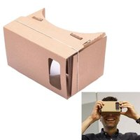 Wholesale mini google android phone for sale - Group buy VR Google Cardboard Glasses Suitable for iPhone Smart Phones Paper shell Mini D VR glasses Box for Xiaomi Android DIY