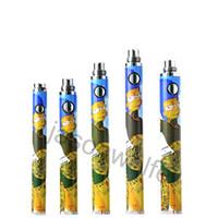 vape pen evod box al por mayor-Evod Vape Pen Torsión Baterías inferior de dibujos animados de voltaje variable ego de la batería 3.3V-4.8V para 510 Tema 32 PC / 25 Unidades / Caja