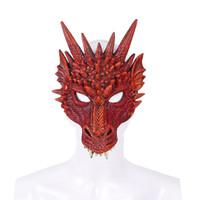 ingrosso costumi adulti di drago-Cospty Spedizione gratuita Halloween Carnival Party Nuovo Design Decorazione Adulti e bambini 3D Soft Pu Foam Costume Dragon Mask