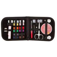 taille des ciseaux achat en gros de-Kit de réparation Kit de couture taille de voyage DIY Fournitures de couture Organisateur Outils de bricolage Rempli de ciseaux Fil à coudre Aiguilles à coudre Ruban à mesurer