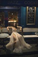 Wholesale embellished romantic wedding dresses for sale - Group buy 2019 New Romantic Sexy Wedding Dresses Liz Martinez Bridal Gowns Sleeveless Sheer V Neck Tulle Skirt Split Wedding Dress Embellished Bodice