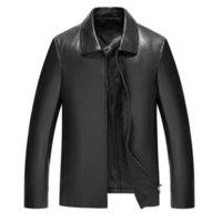 neue herren echtes lederjacke großhandel-2019 Limited Shearling Herren Echtleder Herrenjacke Haining New Genuine Leather Jacket