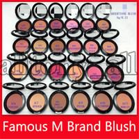 surligneurs couleurs achat en gros de-Prix le plus bas M Blush Cosmétiques Maquillage Visage Blush 6g Pressé Surligneur Marques Blush Maquillage Outils Unicolore 24 Couleurs