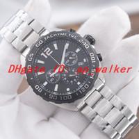 65a40d513faa cronógrafo negro al por mayor-Venta caliente Reloj de lujo para hombres VK  Movimiento de