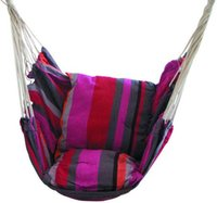 Wholesale easy swing for sale - Group buy With Armrests Hammock Canvas Multi Color Soft Hanging Chair Comfortable Rope Swing Seat Chairs Easy To Carry Leisure xl A
