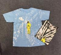 t-shirt à cravate pour femme achat en gros de-2019 Cravate Teinture Travis Scott Astroworld Tour Astronaute Tee T-shirt Hip Hop Hommes Femmes Meilleure qualité À manches courtes Hommes t-shirts