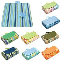 Wholesale folded picnic mat for sale - Group buy 21 Colors cm Outdoor Sport Picnic Camping Pads Portable Folding Mat Beach Mat Oxford Cloth Sleeping Mats Outdoor Pads CCA11706
