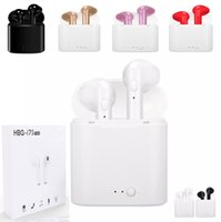 Wholesale pink headset for cell phone for sale - Group buy I7 I7S TWS Twins Bluetooth chargers Earbuds Mini Wireless Earphones Headset with Mic Stereo V4 Headphone for Iphone Android sansumg huawei