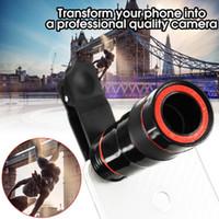 teleskop mobil für iphone großhandel-8x Zoom 12 * Zoom Optisches Telefon-Teleskop Tragbares Handy-Teleobjektiv und Clip für das iPhone Smartphone