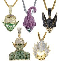 Wholesale christmas necklace kids pendants for sale - Group buy Hip Hop Gold Iced Out Anime Dragon Ball Bic Devil Majin Buu Character Broly Gokan Kid Buu Men Necklaces