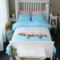Wholesale bedding for queen size beds for sale - Group buy 100 Cotton Twin Queen size Bedding set for Kids Girls Bed set Duvet cover Bedsheet Fitted sheets ropa de cama Christmas Gifts