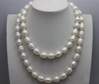 Wholesale 35 inch south sea pearls resale online - Women Gift word Love MM natural south seas Australian baroque white pearl necklace inch a silver jewelry