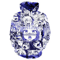 c736760b73d New Style Fashion Japanese Cartoon Anime Ahegao Hoodies 3D Print Clothing  Women Men Unisex Funny 3D Hoodies Casual Pullovers Tops K556