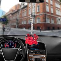otomobiller için fren balataları toptan satış-Araba Kolye Fren Pompası Pedleri Süsler Asılı Oto İç Dikiz Aynası Dekorasyon Dangle Trim Aksesuar Araba Aksesuarları