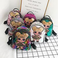 ingrosso progettista borsa per ragazza-Sequin Kids Toys designer lol dolls Zaino ragazze cartoni borse di stoccaggio Zaini hop-pocket regali di natale borse LOL giocattolo